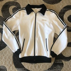 Adidas 3 Stripe Zip Up Jacket - M
